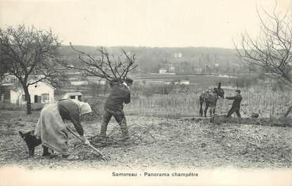 "CPA FRANCE 77 ""Samoreau, panorama champêtre"" / AGRICLTURE"