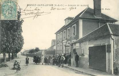 "CPA FRANCE 78 ""Boissy Sans Avoir, Ecoles et Mairie"""