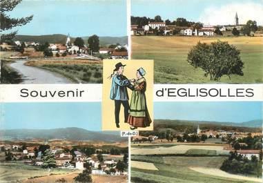 """/ CPSM FRANCE 63 """"Souvenir d'Eglisolles"""""""