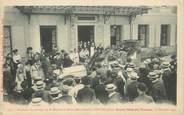 """01 Ain CPA FRANCE 01 """"Bourg en Bresse, souvenir du passage de Sa Majesté la Reine Mère d'Italie, devant le grand Hotel de l'Europe, 1907"""""""