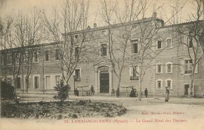 """CPA FRANCE 34  """"Lamalou les Bains, le grand Hotel des Thermes"""""""