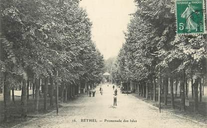 "/ CPA FRANCE 08 ""Rethel, promenade des Isles"""