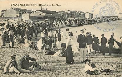 "CPA FRANCE 34  ""Palavas les Flots, la plage"""