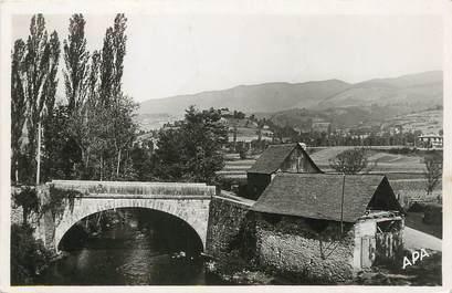 """/ CPSM FRANCE 09 """"Argein, le pont de la Bouigane joli coin de pêche"""""""