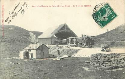 """CPA FRANCE 63 """"Le Chemin de Fer du Puy de Dôme, la Gare au sommet"""""""