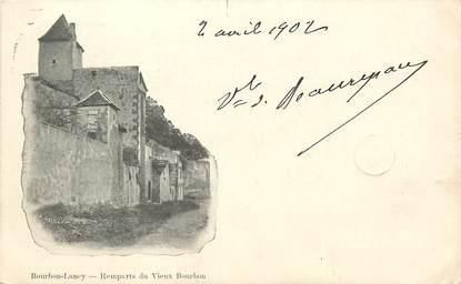 """CPA FRANCE 71 """"Bourbon Lancy, rempart du vieux Bourbon"""""""