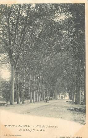 """CPA FRANCE 71 """"Paray le Monial, Allée du pèlerinage de la Chapelle de Bois"""""""