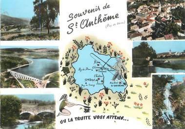 """/ CPSM FRANCE 63 """"Souvenir de Saint Anthème """""""