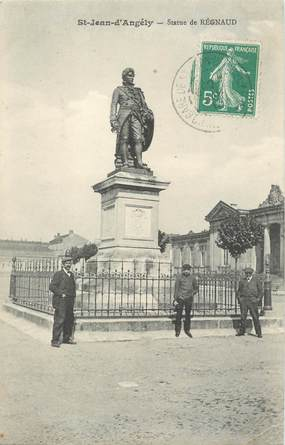 """/ CPA FRANCE 17 """"Saint Jean d'Angély, statue de Régnaud"""""""