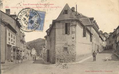 """/ CPA FRANCE 09 """"Castillon, route départementale et grande rue """""""