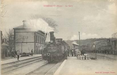 "/ CPA FRANCE 27 ""Etrepagny, la gare"""