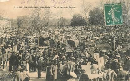 """CPA FRANCE 01 """"Chatillon sur Chalaronne, le champ de foire"""""""