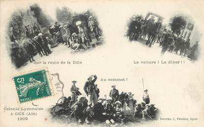 "CPA FRANCE 01 ""Gex, colonie lyonnaise, 1909"""