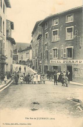 """CPA FRANCE 01 """"Jujurieux, une rue"""""""
