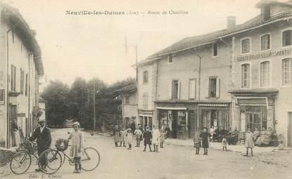 """CPA FRANCE 01 """"Neuville les ames, la route de Chatillon"""""""
