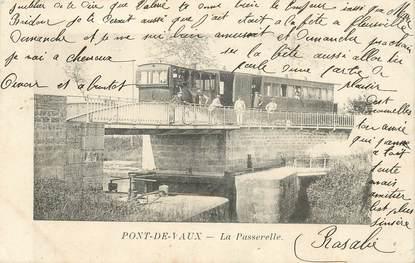 """CPA FRANCE 01 """"Pont de Vaux, la Passerelle"""""""