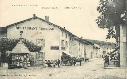 """CPA FRANCE 01 """"Priay, Hotel Carre"""""""