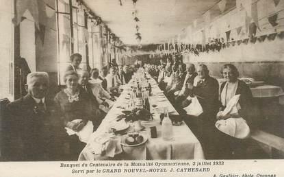 """CPA FRANCE 01 """"Oyonnax, banquet du centenaire de la Mutualité oyonnaxienne,1933"""""""