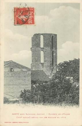 """/ CPA FRANCE 09 """"Canté Près Saverdun, clocher de l'église"""""""