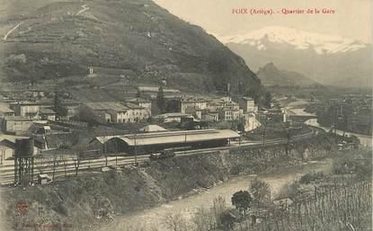 "/ CPA FRANCE 09 ""Foix, quartier de la gare"""