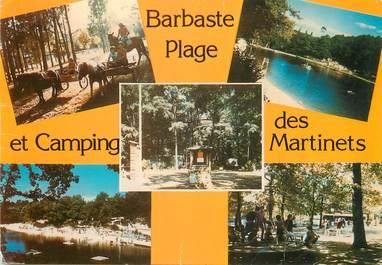 """/ CPSM FRANCE 47 """"Barbaste, plage et camping des Martinets"""""""