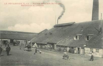 """CPA FRANCE 44 """"Le Pouliguen, société salinière de l'Ouest, raffinerie et laverie"""""""