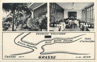 "/ CPA FRANCE 06 ""Grasse, pension Welcome"""