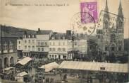 """61 Orne / CPA FRANCE 61 """"Vimoutiers, vue sur le marché et l'église"""""""