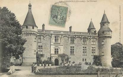 "/ CPA FRANCE 33 ""Brignols, le château"""