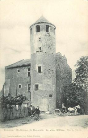 """CPA FRANCE 38 """"Dauphiné, Saint Georges de Commiers, le vieux chateau"""""""