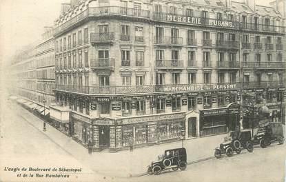 """/ CPA FRANCE 75001 """"Paris, l'angle du bld de Sébastopol"""""""