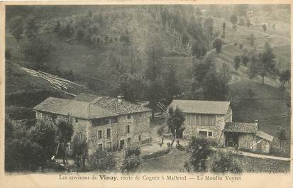 """CPA FRANCE 38 """"Les Environs de Vinay, route de Cognin à Malleval, le Moulin Veyret"""""""