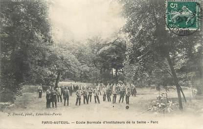 """/ CPA FRANCE 75016 """"Paris Auteuil, école normale d'instituteurs de la Seine, parc"""""""
