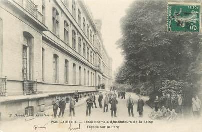"""/ CPA FRANCE 75016 """"Paris Auteuil, école normale d'instituteurs de la Seine, façade sur le Parc"""""""