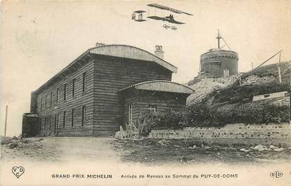 """CPA FRANCE 63 """"Arrivée de Renaux au sommet du Puy de Dôme"""" / AVIATION"""