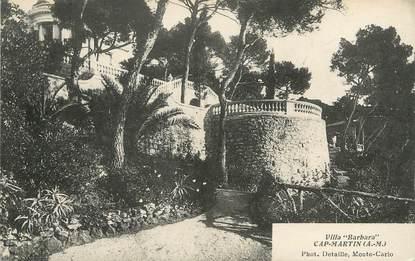 "/ CPA FRANCE 06 ""Cap Martin, Villa Barbara """