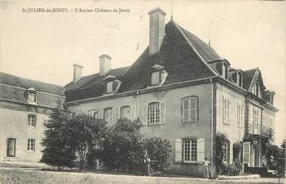 """CPA FRANCE 71 """"Saint Julien de Jonzy, ancien chateau de Jonzy"""""""