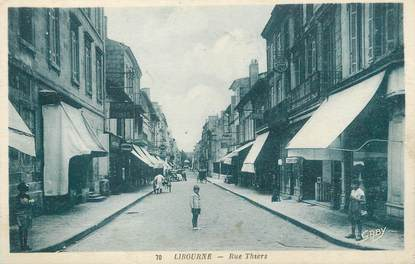 """/ CPA FRANCE 33 """"Libourne, rue Thiers"""""""