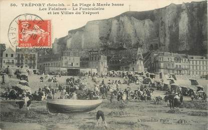"""/ CPA FRANCE 76 """"Le Tréport, la plage à marée basse """""""