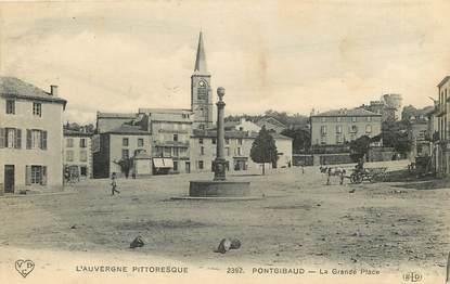 "CPA FRANCE 63 ""Pontgibaud, La Grande Place"""