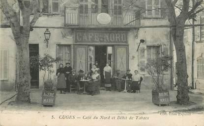 """CPA FRANCE 13  """"Cuges, café du Nord et débit de Tabac"""""""