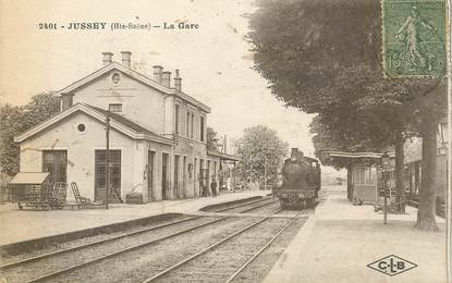 "CPA FRANCE 70 ""Jussey, la gare"" / TRAIN"