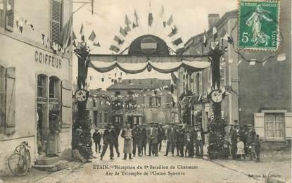 """CPA FRANCE 55 """"Etain, Réception du 8eme Bataillon des Chasseurs"""""""