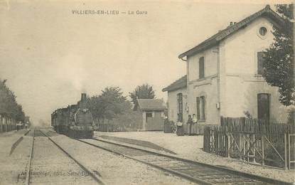 "CPA FRANCE 52 ""Villiers en Lieu, la gare"" / TRAIN"