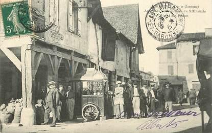 """CPA FRANCE 47 """"Miramont, le marché aux Prunes"""""""