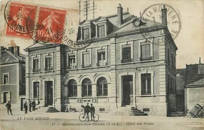 """CPA FRANCE 71  """"Montceau les Mines, Hôtel des Postes"""""""