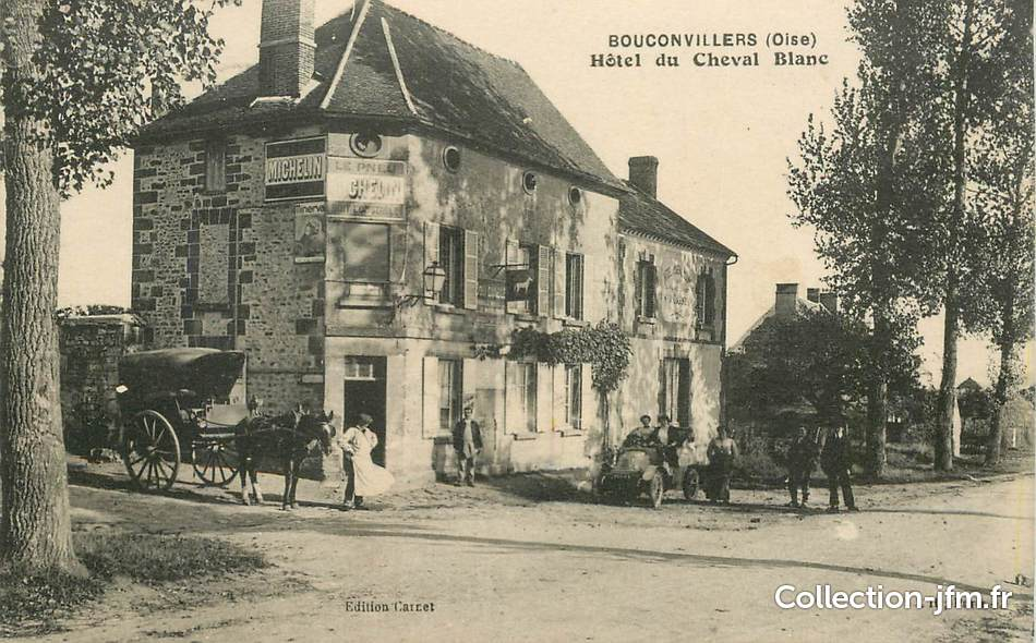 Cpa france 60 bouconvillers hotel du cheval blanc 60 for Liste communes oise