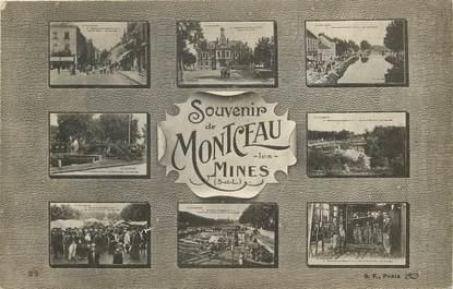 """CPA FRANCE 71  """"Montceau les Mines, souvenir"""""""