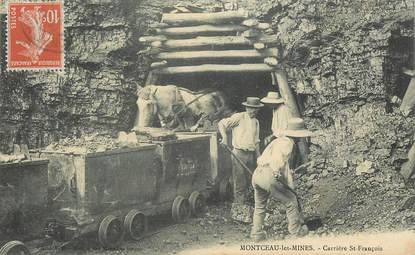 """CPA FRANCE 71 """"Montceau les Mines, carrière Saint François"""""""