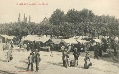 """CPA FRANCE 71 """"Saint Germain du Bois, le Marché """""""